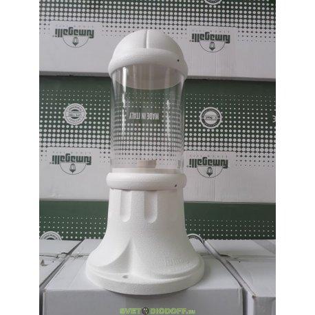 Столб фонарный уличный Fumagalli SAURO 500 Е27 белый/прозрачный 0,5м