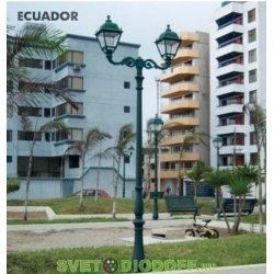 Уличный фонарь столб HOREB/ADAM SIMON 2L черный/прозрачный рассеиватель 4,15м