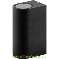 Светильник садово-парковый настенный однолучевой GU10 230V, черный