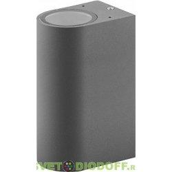 Светильник садово-парковый настенный двухлучевой 2хGU10 230V, серый