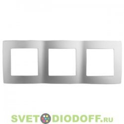 12-5003-03 ЭРА Рамка на 3 поста, Эра12, алюминий