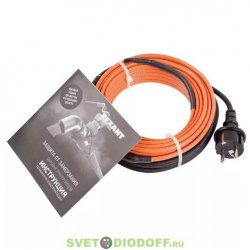 Греющий саморегулирующийся кабель (комплект в трубу) 10HTM2-CT ( 8м/80Вт) REXANT
