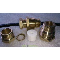 Сальник с двойной резьбой 1/2 и 3/4 для ввода кабеля в трубу  Proconnect