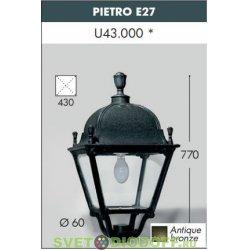 Садовый светильник венчающий FUMAGALLI большие формы, PIETRO античная бронза, прозрачный