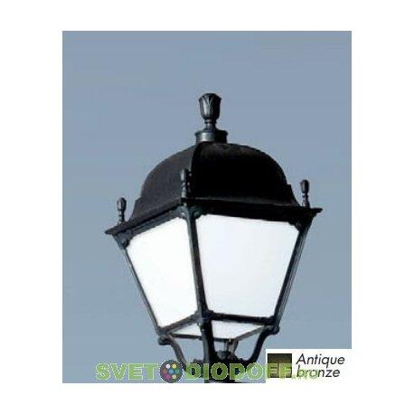 Садовый светильник венчающий FUMAGALLI большие формы, PIETRO чёрный, прозрачный