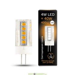 Лампа светодиодная Gauss LED G4 12V 4W 2700K керамика