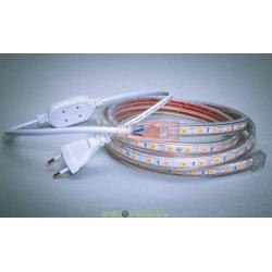 Комплект светодиодной подсветки 220В, холодный белый smd 505, 60 led/м, IP54 9метров