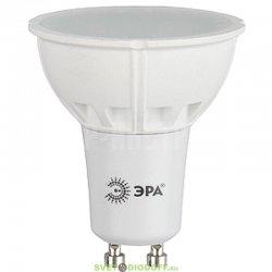 Лампа светодиодная LED MR16-10W-827-GU10 ЭРА (MR16, 10Вт, тепл, GU10)