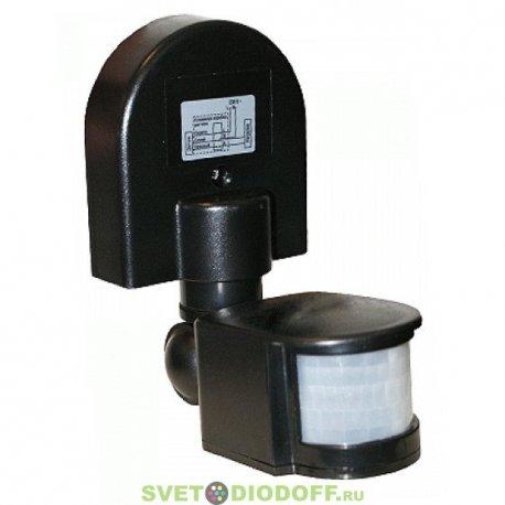 Датчик движения инфракрасный ДД-008-B 1200Вт 180 гр.12м IP44 черный