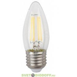 Лампа светодиодная Свеча филамент ЭРА F-LED B35-5w-827-E27 2700К