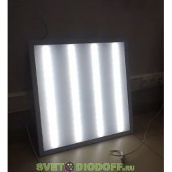 Офисный светодиодный светильник матовый SPO-6-36-6K-M ЭРА 595x595x19 36Вт 3000Лм 6500К