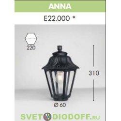 Венчающий светильник ANNA Fumagalli черный/прозрачный рассеиватель 1xE27 LED-FIL с лампой 800Lm, 2700К