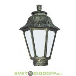 Венчающий светильник ANNA Fumagalli черненная бронза/матовый рассеиватель 1xE27 LED-FIL с лампой 800Lm, 2700К
