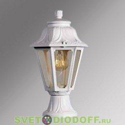 Уличный садовый светильник Fumagalli Mikrolot/Anna Белый, прозрачный экран 1xE27 LED-FIL с лампой 800Lm, 2700К