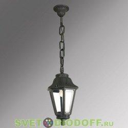 Уличный подвесной светильник Fumagalli Sichem/Anna черный, прозрачный 1xE27 LED-FIL с лампой 800Lm, 2700К