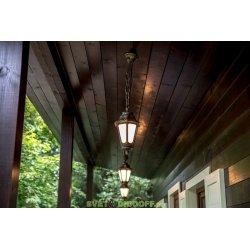 Уличный подвесной светильник Fumagalli Sichem/Anna античная бронза/матовый плафон 1xE27 LED-FIL с лампой 800Lm, 2700К