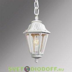 Уличный подвесной светильник Fumagalli Sichem/Anna белый, прозрачный 1xE27 LED-FIL с лампой 800Lm, 2700К