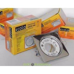Светильник Ecola GX53 H4 Square open edge квадратный Хром с открытым краем 106x41