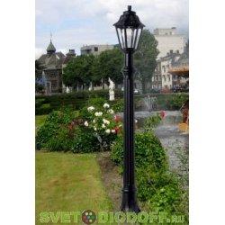 Светильник уличный столб FUMAGALLI ALOE/ANNA черный/прозрачный 1,4м. 1xE27 LED-FIL с лампой 800Lm, 4000К