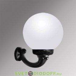 Уличный настенный светильник Fumagalli Ofir/GLOBE 250 черный, молочный