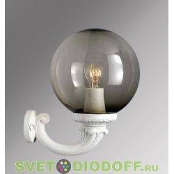 Уличный настенный светильник Fumagalli Ofir/GLOBE 250 белый, дымчатый