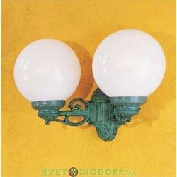 Уличный настенный светильник Fumagalli Porpora/GLOBE 250 черный, матовый (вверх или вниз)