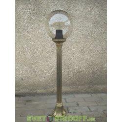 Столб фонарный уличный Fumagalli Mizar/GLOBE 250 черненная бронза, прозрачный