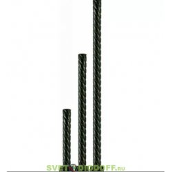 Опора витая металлическая садово-парковая, h1800 мм, цвет серебро металлик