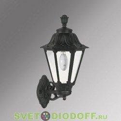 Уличный настенный светильник Fumagalli Bisso/Rut черный, прозрачный без лампы