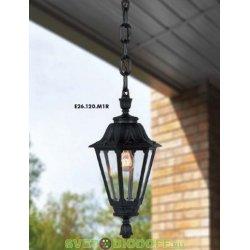 Уличный подвесной светильник Fumagalli Sichem/Rut черный, прозрачный без лампы