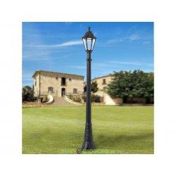 Столб фонарный уличный Fumagalli Artu/Rut черный, прозрачный 1,92м 1xE27 LED-FIL с лампой 800Lm, 2700К