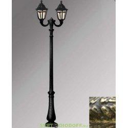 Столб фонарный уличный Fumagalli Nebo Ofir/RUT 2L черный/прозрачный 3,0м 2xE27 LED-FIL с лампами 800Lm, 2700К