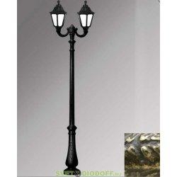 Столб фонарный уличный Fumagalli Nebo Ofir/RUT 2L черный/молочный 3,0м 2xE27 LED-FIL с лампами 800Lm, 2700К