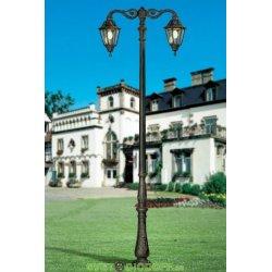 Уличный фонарь столб HOREB/ADAM NOEMI 2L DN античная бронза/прозрачный рассеиватель 3,65м