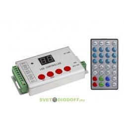 Контроллер для управления RGB HX-801SE (8192 pix, 5-24V, SD-карта,ПДУ)