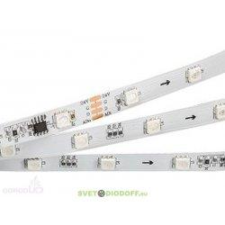"""Гибкая открытая лента """"Бегущие огни"""" с интерфейсом DMX-512 (драйвер WS2821A). 5060,180 LEDx6, DMX"""