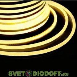 Гибкий Неон LED 360 (круглый) - ТЕПЛЫЙ БЕЛЫЙ, бухта 50м NEON-NIGHT