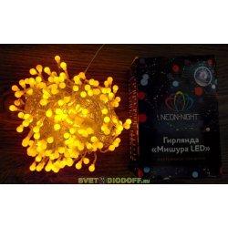 "Гирлянда ""Мишура LED"" 3 м прозрачный ПВХ, 288 диодов, цвет желтый NEON-NIGHT"