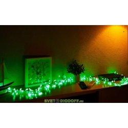 "Гирлянда ""Мишура LED"" 3 м прозрачный ПВХ, 288 диодов, цвет зеленый NEON-NIGHT"