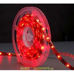"""Монохромная красная светодиодная лента """"Бегущий огонь"""" 5050/30 IP65"""