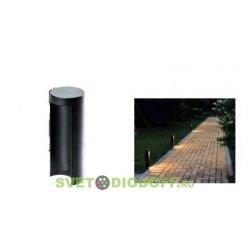 Ландшафтный светодиодный светильник LGD-Path-Round90-H250B-7W Warm White черный