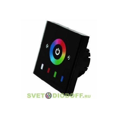 Панель сенсорная для светодиодной ленты Sens LN-08E2 Black (RGB,12-24V,144-288W)