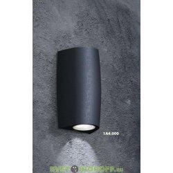 Светильник светодиодный фасадный Fumagalli MERTA 90 2L с лампой, черный