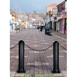 Уличный столб декоративный Fumagalli Nardo R 900 черный 0,9м