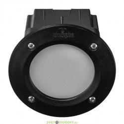 Встраиваемый уличный светильник Leti 100 round Led 3W черный матовый плафон