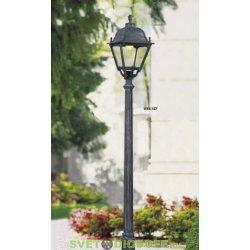 Столб фонарный уличный Fumagalli ALOE.R/SIMON черный 1,64м