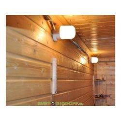 Светильник НПБ400 для сауны настенно-потолочный белый, IP54, 60 Вт, белый