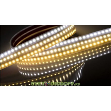 Светодиодная лента LUX герметичная в матовой трубке RTW 2-5000PW 24V White 2x (3528, 600 LED,LUX)