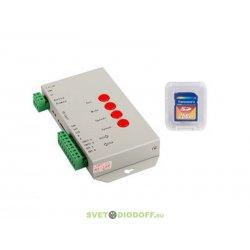 Пиксельный контроллер для флэш-модулей и лент Бегущие огни. HX-T1000S (2048 pix, 5-24V, SD-карта)