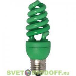 Энергосберегающая лампа зеленая Ecola Spiral Color 15W 220V E27 Green 124x45